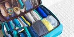 طرق  ترتيب حقيبة السفر